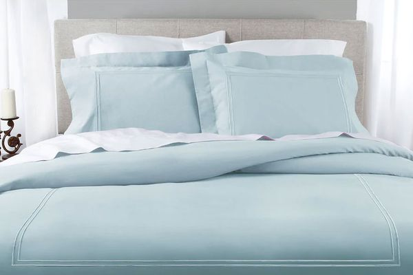 Grand Collection Soft Washed Cotton Percale Duvet Cover Set