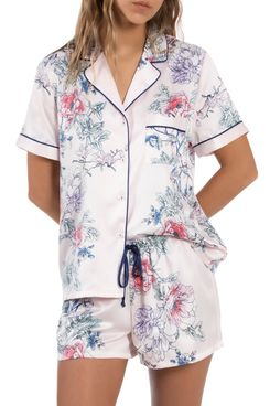 In Bloom by Jonquil Cypress Satin Short Pajamas