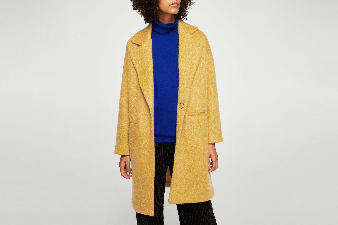 Mango Unstructured mohair-blend coat