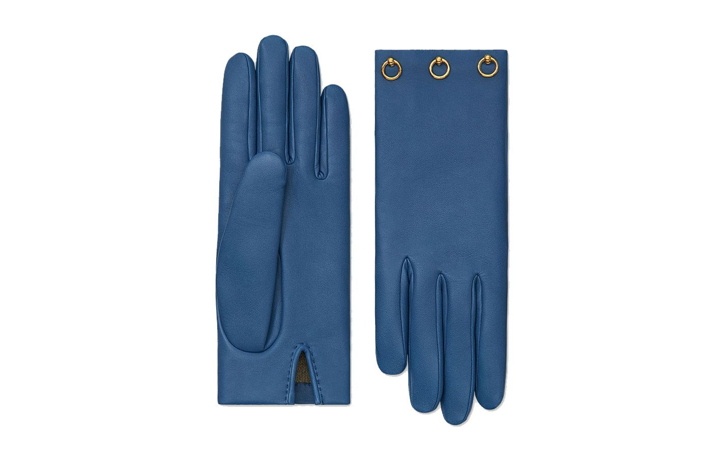 Hermès Mini Dog Anneaux silk lined gloves