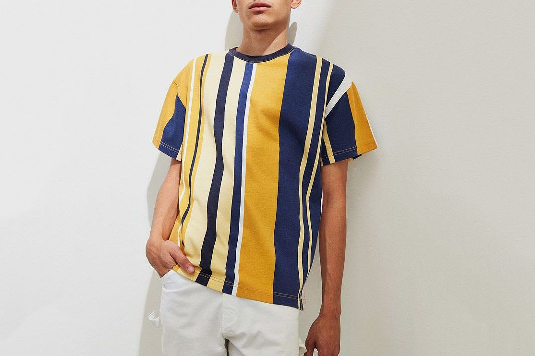 UO Wide Vertical Stripe Dad Tee