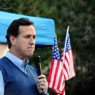 Republican presidential candidate and former U.S. Sen. Rick Santorum speaks at a town hall meeting at the Tea Party and Republicans Uniting Nevada Conservatives (TRUNC) office January 31, 2012 in Las Vegas, Nevada.