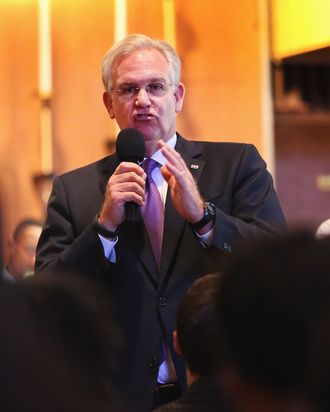 Missouri Governor Jay Nixon speaks about the unrest in the town of Ferguson following the shooting death of Michael Brown to residents and faith and community leaders during a forum held at Christ the King UCC Church on August 14, 2014 in Florissant, Missouri. Brown was shot an killed by a Ferguson police officer on August 9. Ferguson, a St. Louis suburb, has experienced four days of violent protests since the killing.