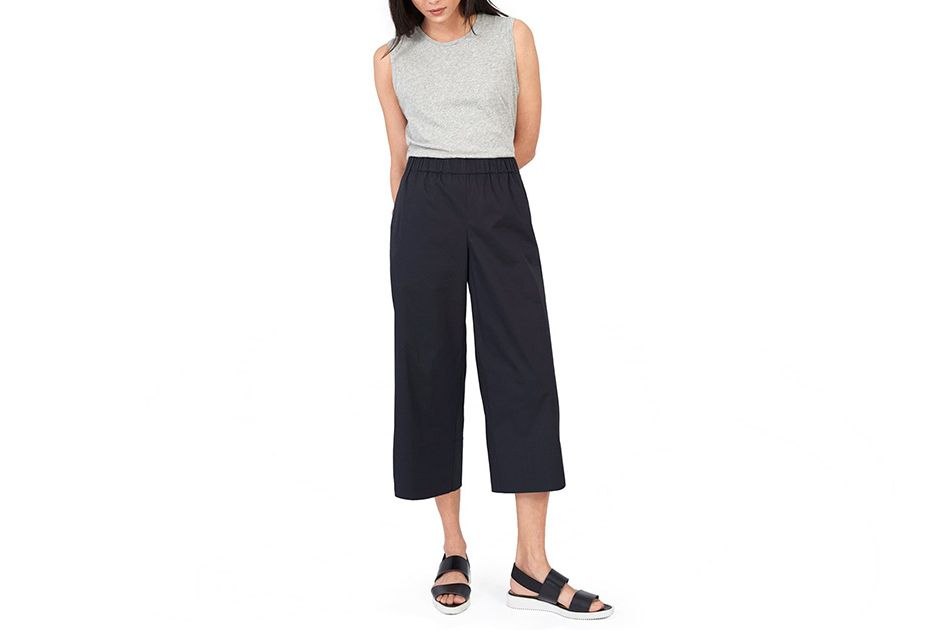 Everlane Cotton Poplin Culotte