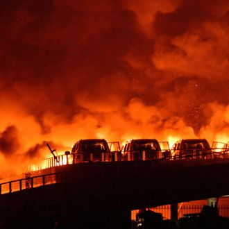 Warehouse Blasts In Tianjin Causing At Least 17 Dead And Over 400 Injured