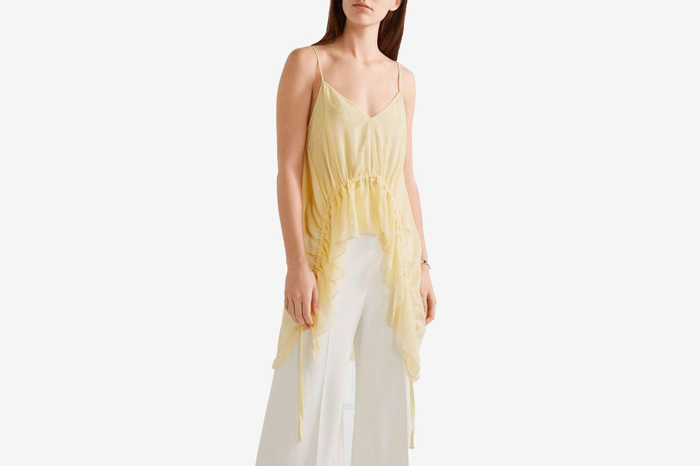 Elizabeth and James Eleanor ruffled silk camisole