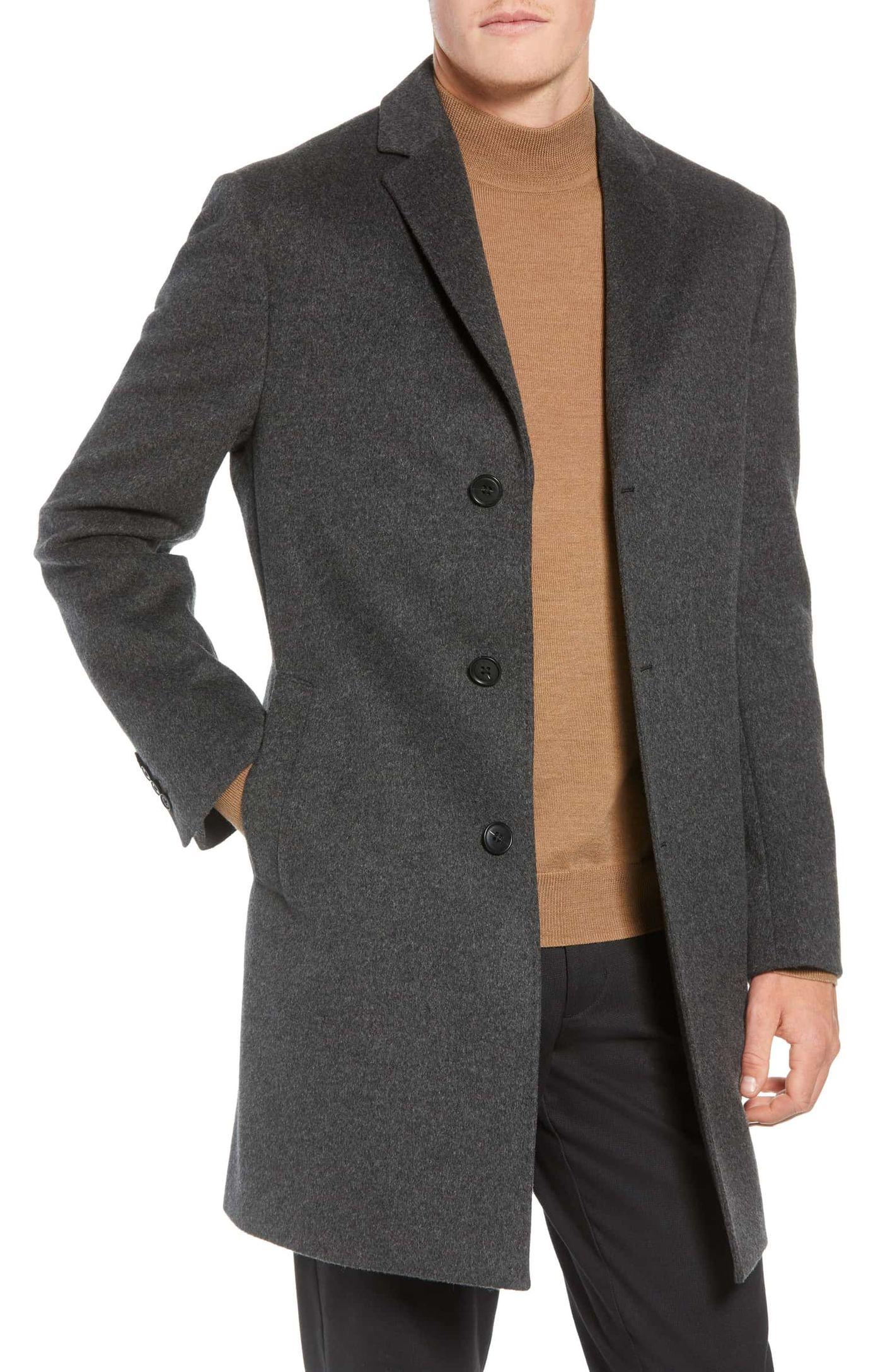 John W. Nordstrom Wool & Cashmere Overcoat