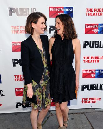 Sarah Paulson and Elizabeth Reaser attend The Public Theater's opening night of