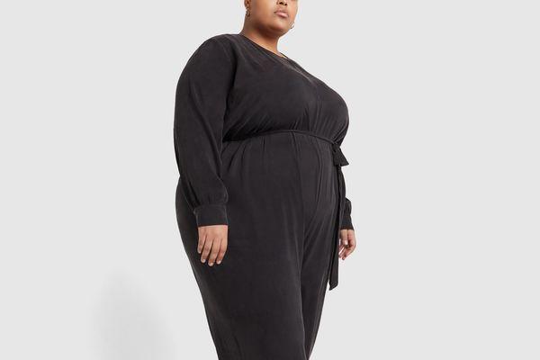 Goop x Universal Standard Brushed-Black Jumpsuit