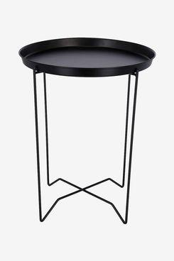 Clas Ohlson Modern Scandi Style Round Black Metal Table
