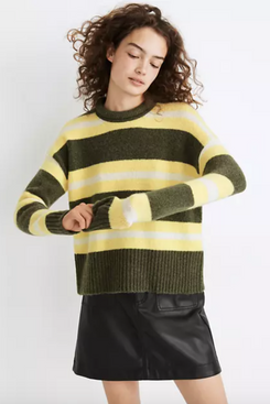 Madewell Striped Fulton Pullover Sweater