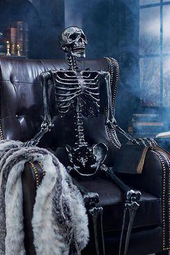Grandin Road Dark-Gray 5-Foot Skeleton