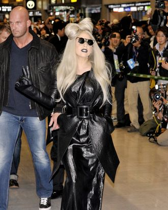 A very Gaga grimace.
