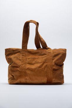 Zara Corduroy Shopper Bag