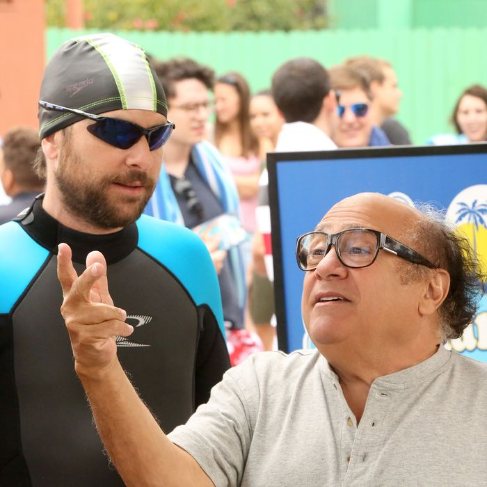 "IT'S ALWAYS SUNNY IN PHILADELPHIA -- ""The Gang Goes to a Water Park"" – Season 12, Episode 2 (Airs January 11, 10:00 pm e/p) Pictured: (l-r) Charlie Day as Charlie, Danny DeVito as Frank. CR: Patrick McElhenney/FXX"