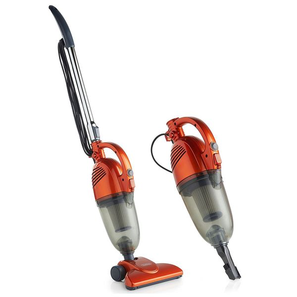 VonHaus 600W 2-in01 Corded Lightweight Upright Stick & Handheld Vacuum Cleaner with HEPA Filtration — Includes Crevice Tool & Brush Accessories