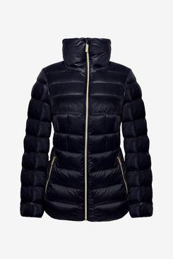 Michael Kors Michael Women's Navy Blue Down Short Packable Coat