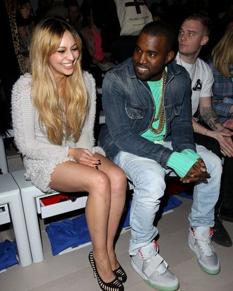 Zara Martin and Kanye West.