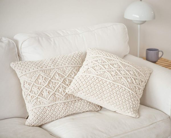 Dahey Throw Pillow Cover Macrame Pillow Case Decorative Cushion Cover