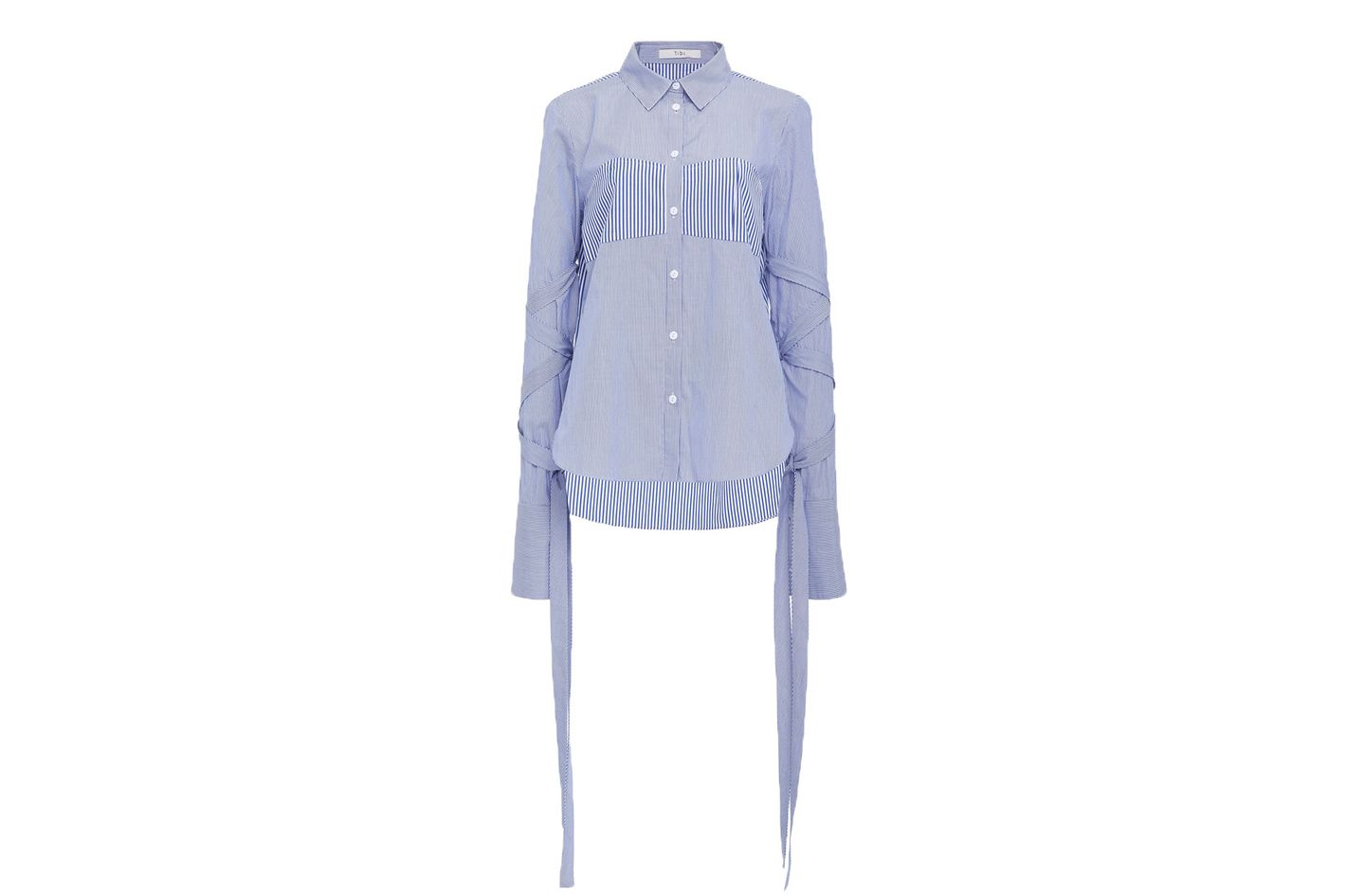 Tibi wrap-sleeve shirt