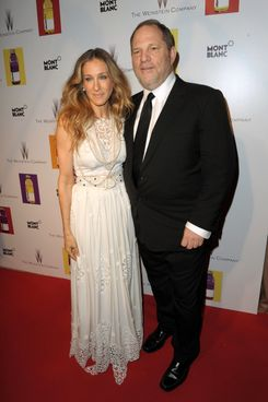 CANNES, FRANCE - MAY 13:  Actress Sarah Jessica Parker (L) and Producer Harvey Weinstein attend The Weinstein Company VIP Press Event at the Martinez Hotel during the 64th Cannes Film Festival on May 13, 2011 in Cannes, France.  (Photo by Michael Buckner/Getty Images)
