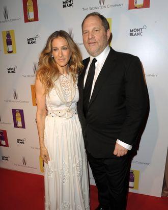Sarah Jessica Parker and Harvey Weinstein.