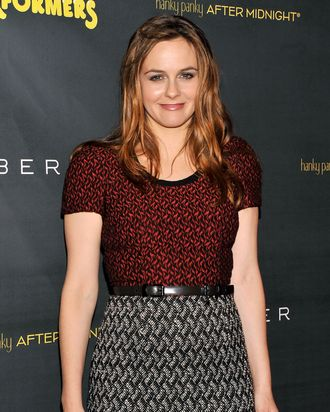 Actress Alicia Silverstone attends the after party for the opening night of