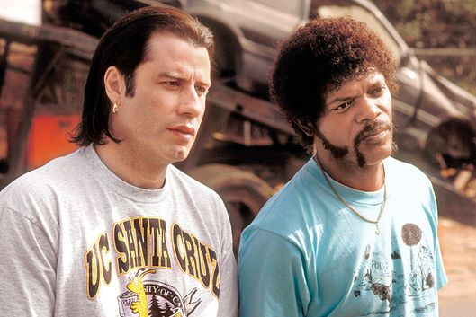 Pulp Fiction (1994)Directed by Quentin TarantinoShown from left: John Travolta (as Vincent Vega), Samuel L. Jackson (as Jules Winnfield)