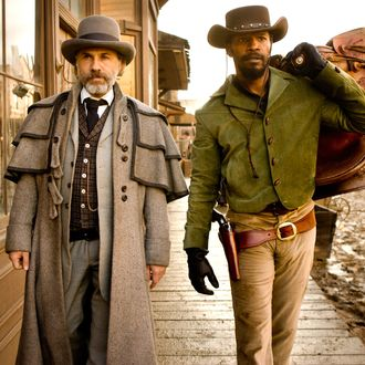 Christoph Waltz, left, and Jamie Foxx star in Columbia Pictures'