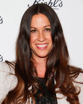 Singer/songwriter Alanis Morissette attends Kiehl's launch of an Environmental Partnership Benefiting Recycle Across America at Kiehl's Since 1851 Santa Monica Store on April 17, 2013 in Santa Monica, California.