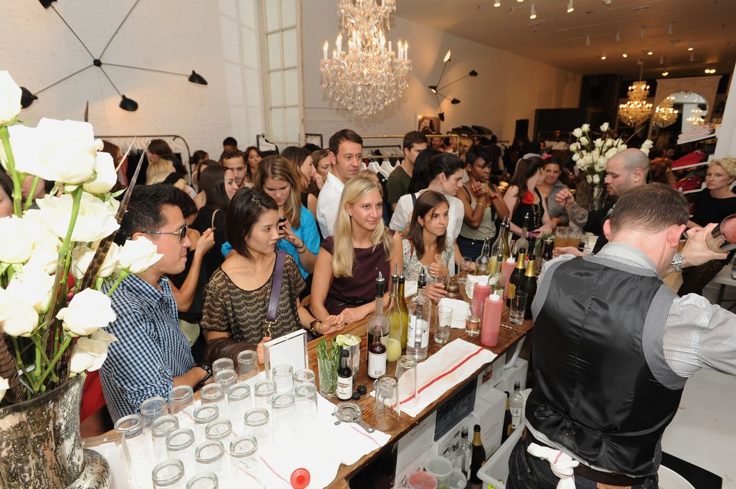 Partygoers enjoy a night of Fashion and celebration as Joe's Celebrates Fashion's Night Out   on September 8, 2011 in New York, New York.