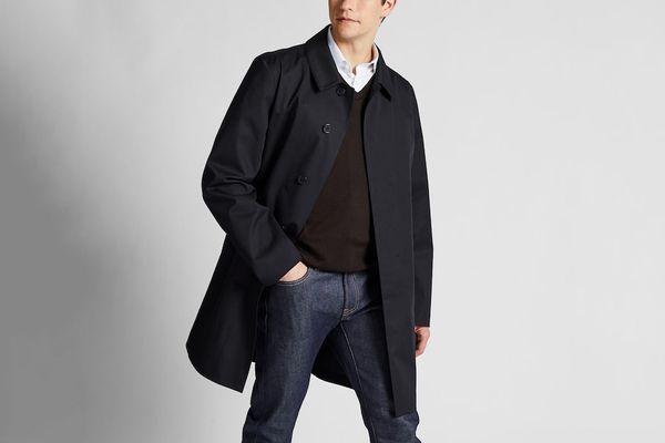 Uniqlo Men's Blocktech Single-Breasted Coat
