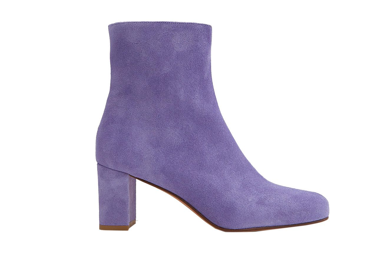 Maryam Nassir Zadeh Agnes Boots in Iris Suede