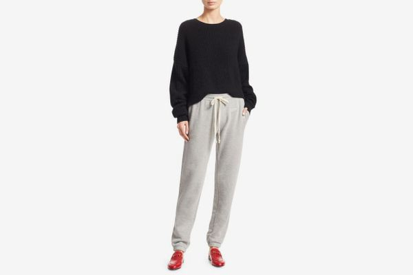 Re/Done Embroidered Cotton-Blend Sweatpants