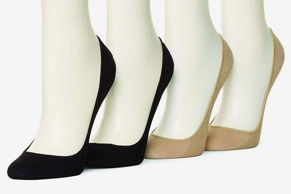 Hue Women's Hidden Cotton Liner Socks (4-Pack)