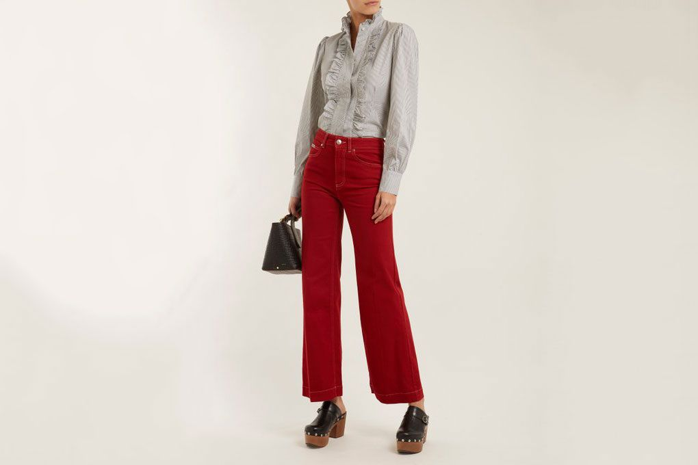 Alexa Chung High-Rise Kick-Flare Jeans