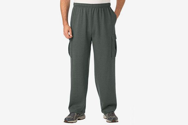 KingSize Men's Big & Tall Fleece Cargo Sweatpants