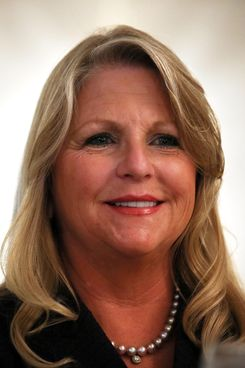 "Virginia first lady Maureen McDonnell attends a ""What to Expect"" baby shower August 21, 2012 in Springfield, Virginia."