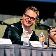 SAN DIEGO, CA - JULY 21:  (L-R) Moderator Eric Vespe, director Nicolas Winding Refn, actress Carey Mulligan and actor Ron Perlman speak at Film District Studio Panel in Hall H at the San Diego Convention Center on July 21, 2011 in San Diego, California.  (Photo by Kevin Winter/Getty Images  for MRC)