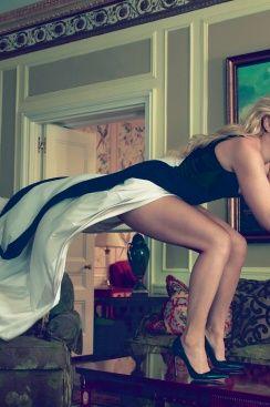 Lindsey Vonn, photographed by Annie Leibovitz.