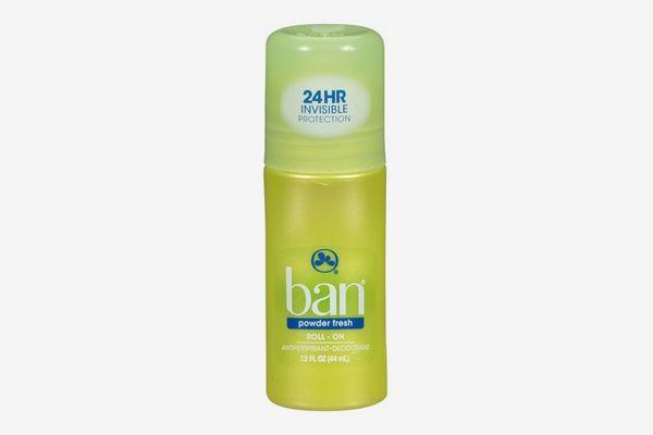 Ban Roll-On Antiperspirant Deodorant in Powder Fresh
