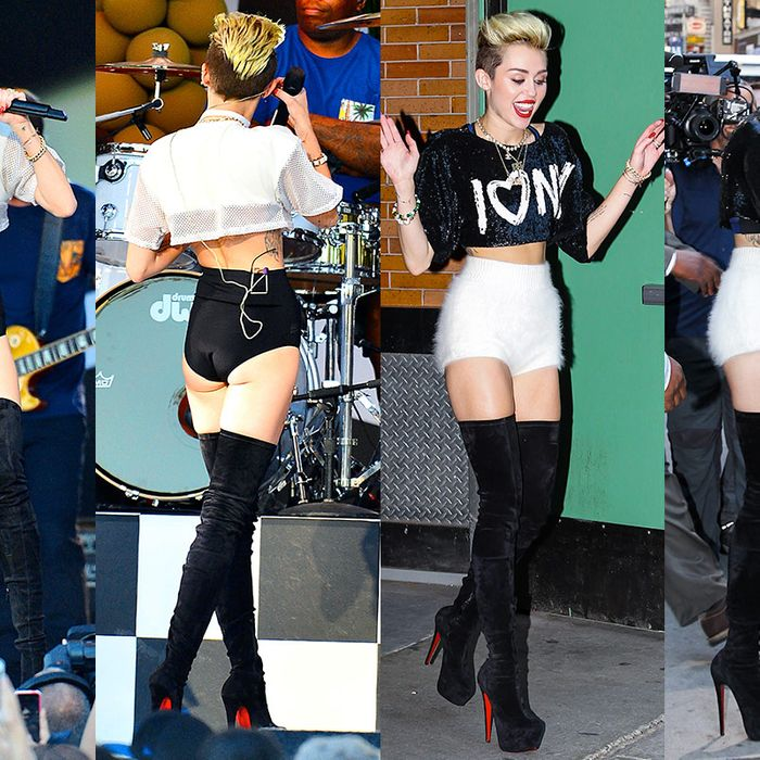 To Discuss Miley Cyruss Crop Tops And Panties