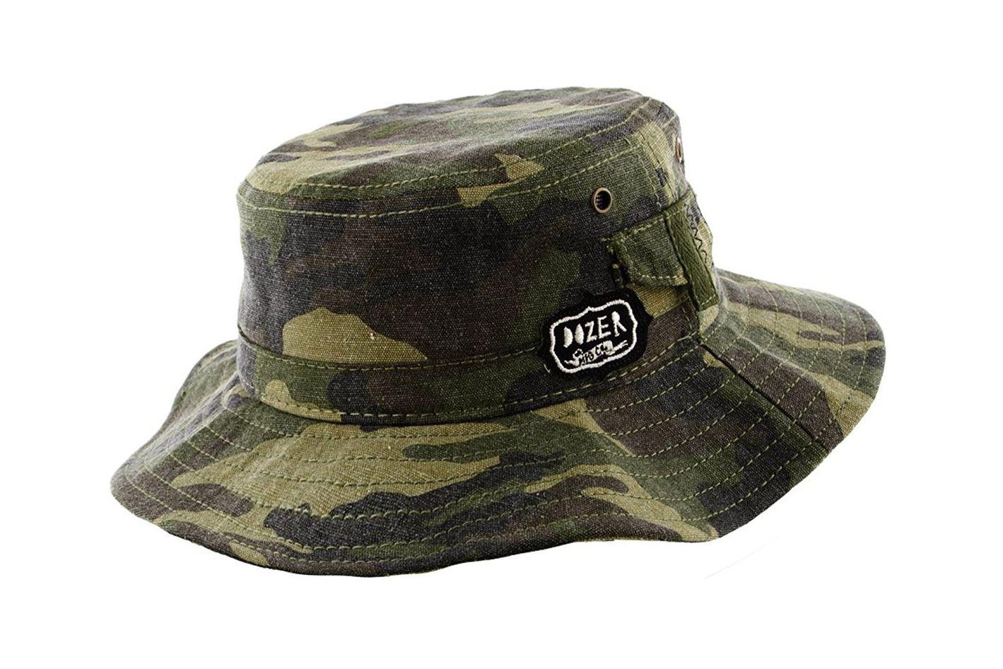 Boys Canvas Sun Protection Wide Brim Camo Print Bucket Hat at Amazon 58a7148c771