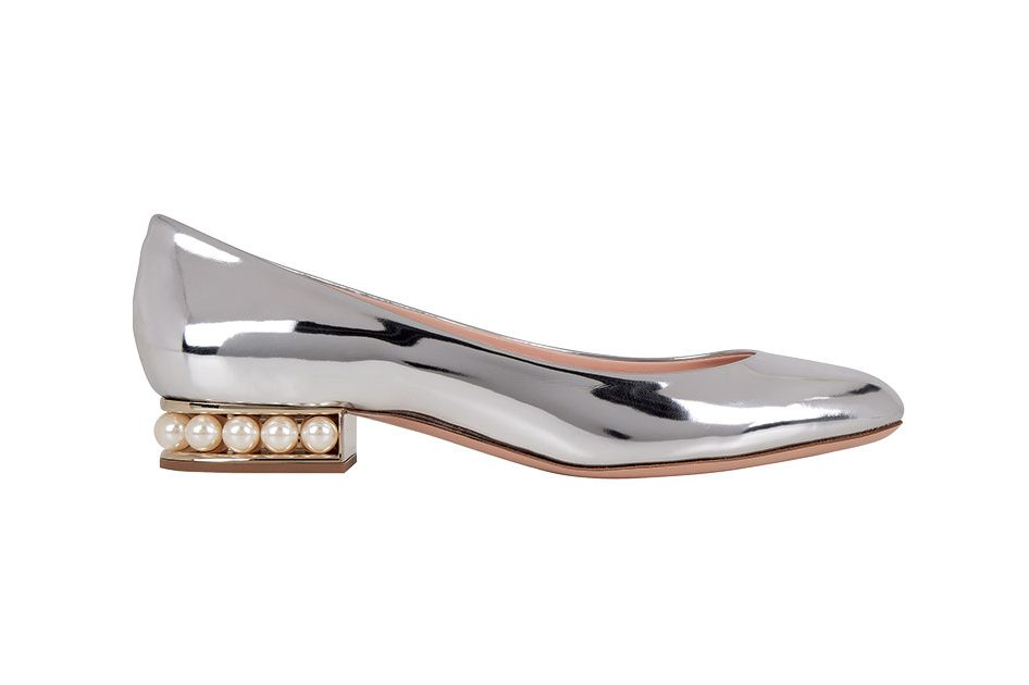 Metallic Leather and Pearls