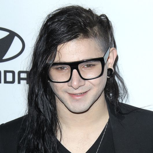 Clive Davis and The Recording Academy's 2012 pre-Grammy Gala and salute to industry icons honoring Richard Branson, at the Beverly Hilton Hotel. <P> Pictured: Skrillex <P> <B>Ref: SPL359630  110212  </B><BR/> Picture by: Jen Lowery / Splash News<BR/> </P><P> <B>Splash News and Pictures</B><BR/> Los Angeles:	310-821-2666<BR/> New York:	212-619-2666<BR/> London:	870-934-2666<BR/> photodesk@splashnews.com<BR/> </P>