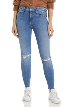 Mother High-Waist Looker Skinny Ankle Jeans