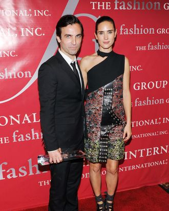 Nicolas Ghesquiere and Jennifer Connelly.