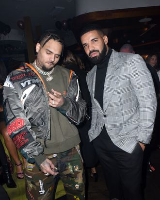 Chris Brown and Drake.