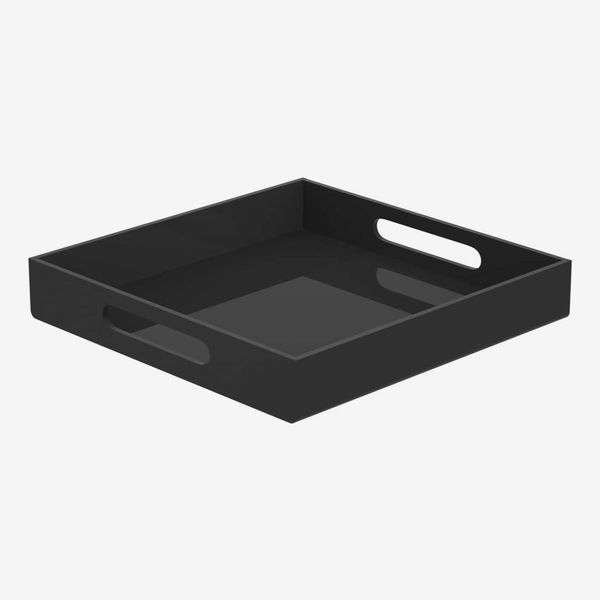 NIUBEE Acrylic Serving Tray 12x12 Inches