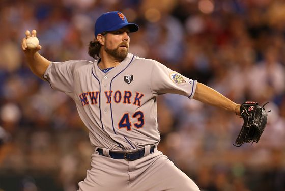 KANSAS CITY, MO - JULY 10:  National League All-Star R.A. Dickey #43 of the New York Mets pitches in the sixth inning during the 83rd MLB All-Star Game at Kauffman Stadium on July 10, 2012 in Kansas City, Missouri.  (Photo by Jonathan Daniel/Getty Images)
